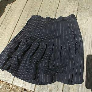 Vintage pinstripe mini skirt